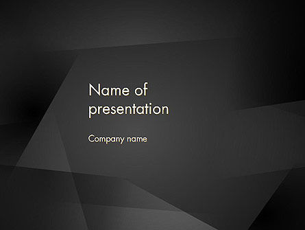 Abstract/Textures: Black Abstract PowerPoint Template #13818