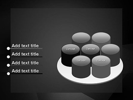 Black Abstract PowerPoint Template Slide 12
