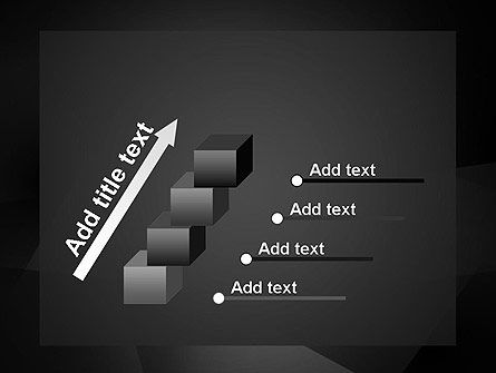 Black Abstract PowerPoint Template Slide 14