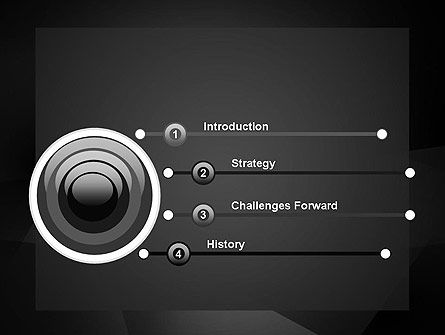 Black Abstract PowerPoint Template Slide 3