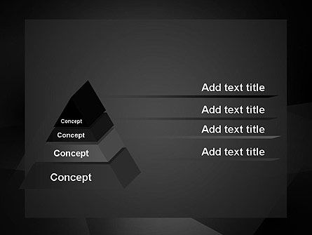 Black Abstract PowerPoint Template Slide 4