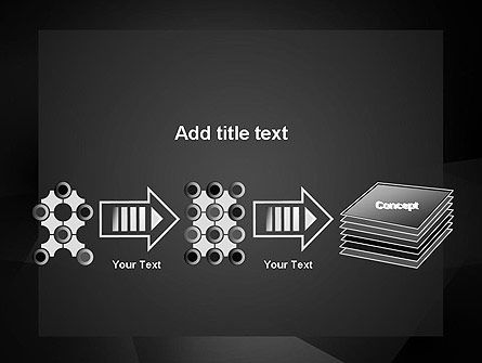 Black Abstract PowerPoint Template Slide 9
