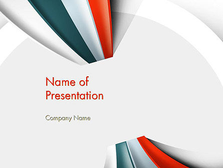 Strips Through the Paper PowerPoint Template, 13820, Business — PoweredTemplate.com