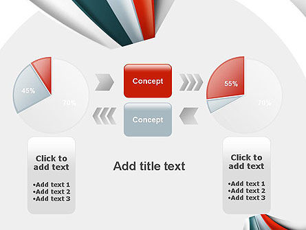 Strips Through the Paper PowerPoint Template Slide 16
