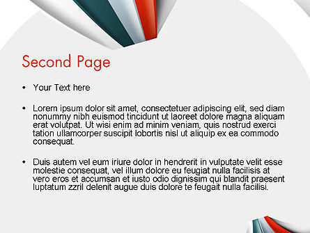 Strips Through the Paper PowerPoint Template, Slide 2, 13820, Business — PoweredTemplate.com