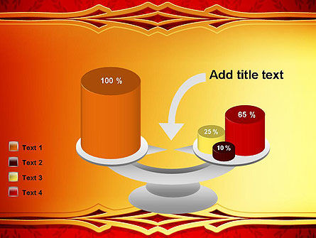 Golden Frame on Brocade Ornament PowerPoint Template Slide 10