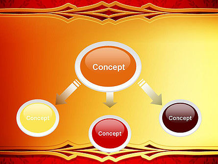 Golden Frame on Brocade Ornament PowerPoint Template Slide 4