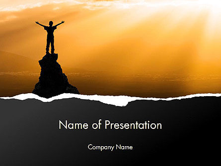 Personal Success PowerPoint Template, 13825, Education & Training — PoweredTemplate.com