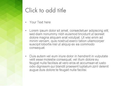 Green Polygons PowerPoint Template, Slide 3, 13827, Abstract/Textures — PoweredTemplate.com