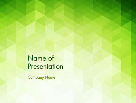 green polygons powerpoint template, backgrounds, Powerpoint