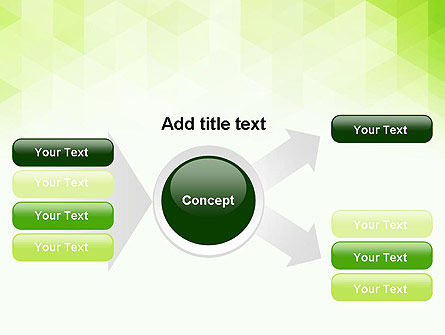Green Polygons PowerPoint Template Slide 14
