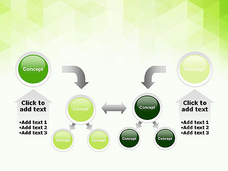 Green Polygons PowerPoint Template Slide 19