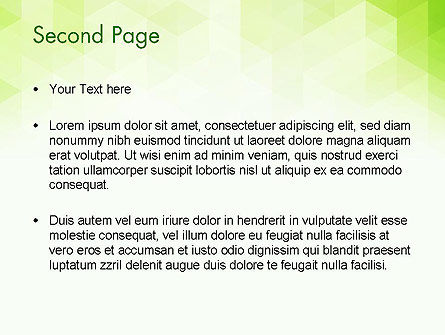 Green Polygons PowerPoint Template, Slide 2, 13827, Abstract/Textures — PoweredTemplate.com