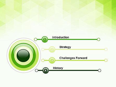 Green Polygons PowerPoint Template, Slide 3, 13827, Abstract/Textures — PoweredTemplate.com
