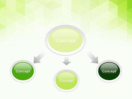 Green Polygons PowerPoint Template, Slide 4, 13827, Abstract/Textures — PoweredTemplate.com