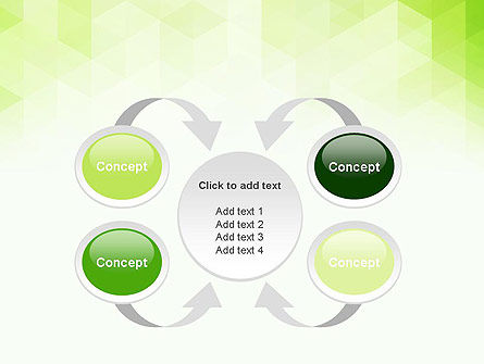 Green Polygons PowerPoint Template Slide 6