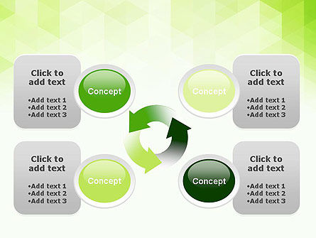 Green Polygons PowerPoint Template Slide 9