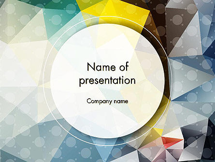 Polygons and Dots PowerPoint Template