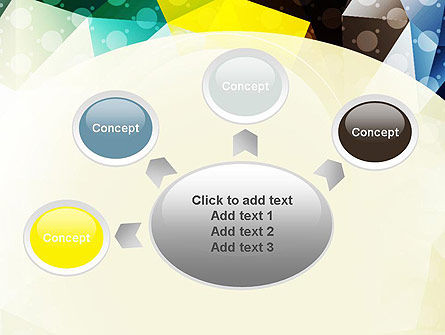 Polygons and Dots PowerPoint Template Slide 7