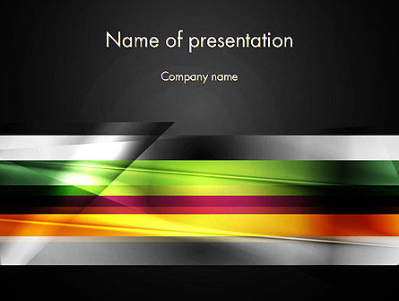 Abstract/Textures: Plantilla de PowerPoint - resumen de desenfoque de movimiento #13831