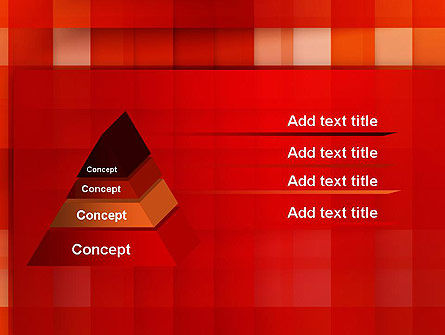 Cut Into Squares Abstract PowerPoint Template Slide 12