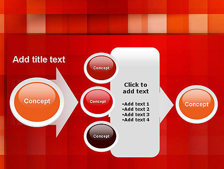 Cut Into Squares Abstract PowerPoint Template Slide 17