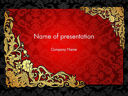 Elegant Pattern Invitation PowerPoint Template