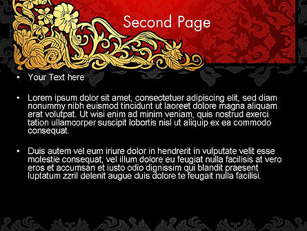 Elegant Pattern Invitation PowerPoint Template, Slide 2, 13834, Holiday/Special Occasion — PoweredTemplate.com