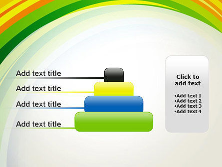 Paper Strips in Rainbow Colors PowerPoint Template Slide 8
