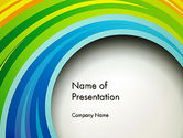 Abstract/Textures: Paper Strips in Rainbow Colors PowerPoint Template #13835