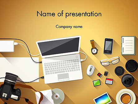Digitizing Photos PowerPoint Template, 13836, Careers/Industry — PoweredTemplate.com