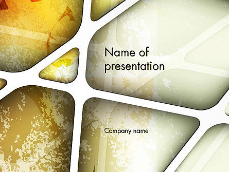 Abstract/Textures: Macro Bladstructuur Abstract PowerPoint Template #13837