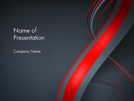 Abstract/Textures: Abstract Curved Lines PowerPoint Template #13838