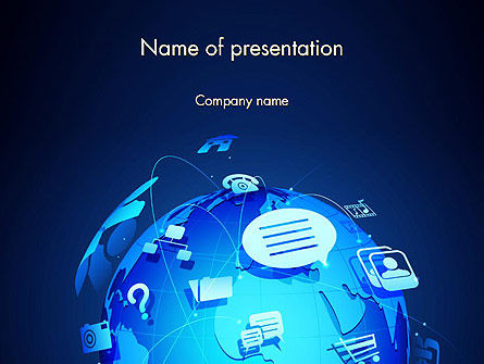 Digital Earth Globe PowerPoint Template, 13839, Global — PoweredTemplate.com