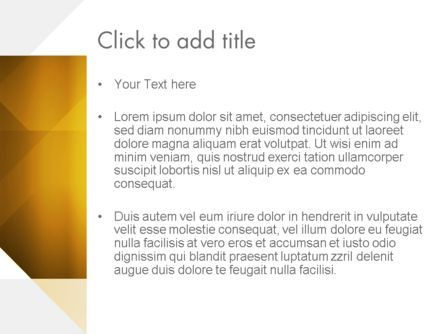 Yellow Air Layers Abstract PowerPoint Template, Slide 3, 13840, Abstract/Textures — PoweredTemplate.com