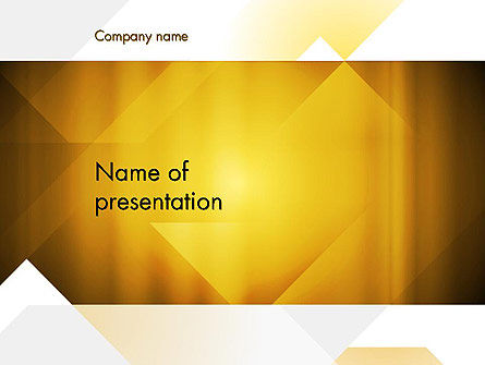 Yellow Air Layers Abstract PowerPoint Template