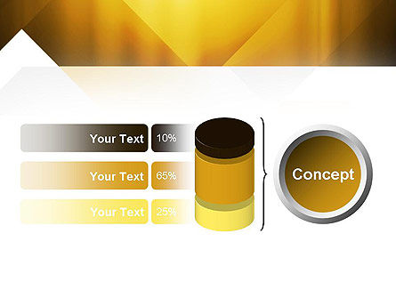 Yellow Air Layers Abstract PowerPoint Template Slide 11