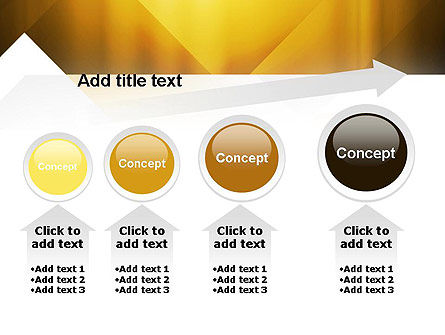 Yellow Air Layers Abstract PowerPoint Template Slide 13