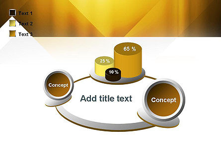 Yellow Air Layers Abstract PowerPoint Template Slide 16
