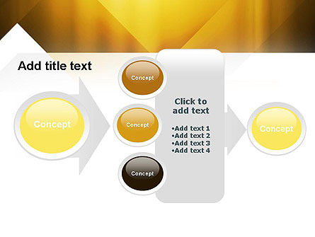 Yellow Air Layers Abstract PowerPoint Template Slide 17