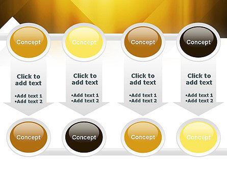 Yellow Air Layers Abstract PowerPoint Template Slide 18