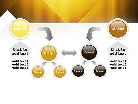 Yellow Air Layers Abstract PowerPoint Template Slide 19