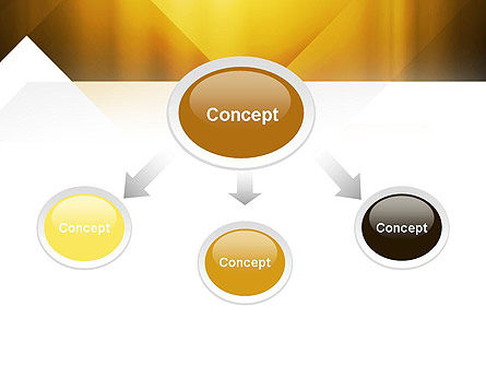 Yellow Air Layers Abstract PowerPoint Template Slide 4