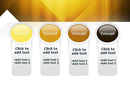 Yellow Air Layers Abstract PowerPoint Template Slide 5