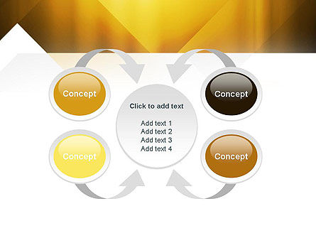 Yellow Air Layers Abstract PowerPoint Template Slide 6