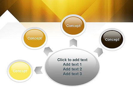 Yellow Air Layers Abstract PowerPoint Template Slide 7
