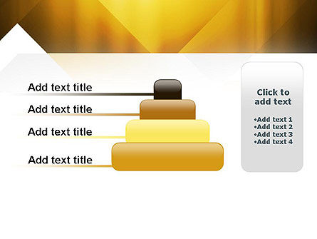 Yellow Air Layers Abstract PowerPoint Template Slide 8