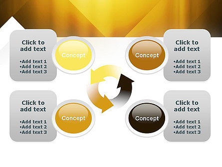 Yellow Air Layers Abstract PowerPoint Template Slide 9
