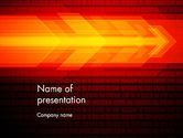 Abstract/Textures: Red Arrow Flying Through Binary Code PowerPoint Template #13841