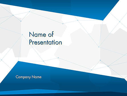 Cogwheels and Thin Lines PowerPoint Template